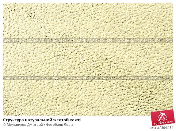 Структура натуральной желтой кожи, фото № 304154, снято 11 мая 2008 г. (c) Мельников Дмитрий / Фотобанк Лори