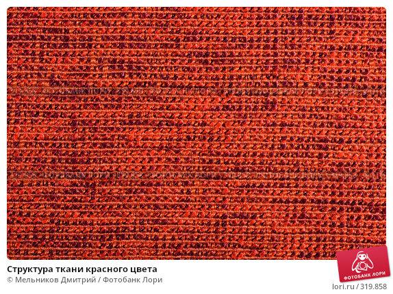 Купить «Структура ткани красного цвета», фото № 319858, снято 26 апреля 2008 г. (c) Мельников Дмитрий / Фотобанк Лори