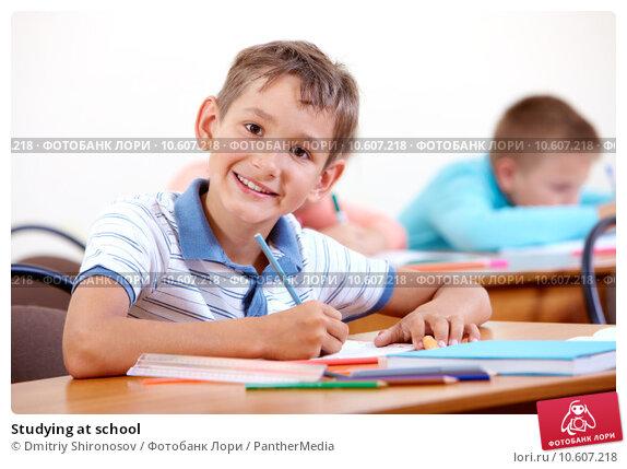 Studying at school. Стоковое фото, фотограф Dmitriy Shironosov / PantherMedia / Фотобанк Лори