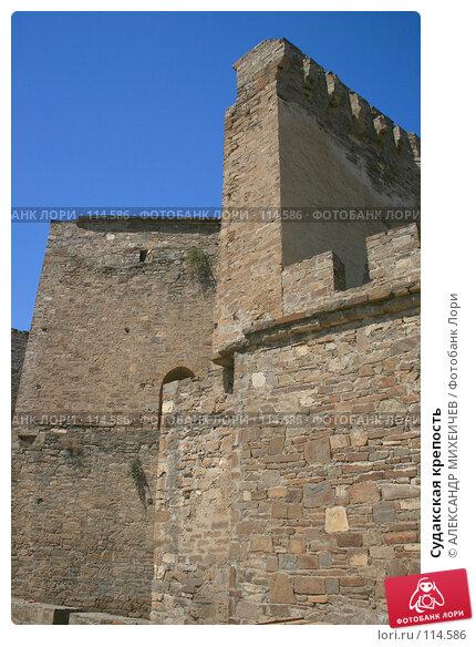 Купить «Судакская крепость», фото № 114586, снято 22 августа 2007 г. (c) АЛЕКСАНДР МИХЕИЧЕВ / Фотобанк Лори