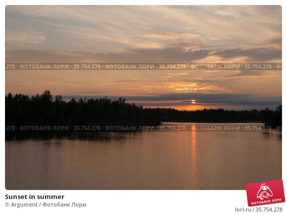 Sunset in summer. Стоковое фото, фотограф Argument / Фотобанк Лори