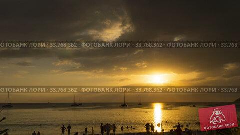 Купить «Sunset landscape at Phuket», видеоролик № 33768362, снято 5 мая 2020 г. (c) Игорь Жоров / Фотобанк Лори