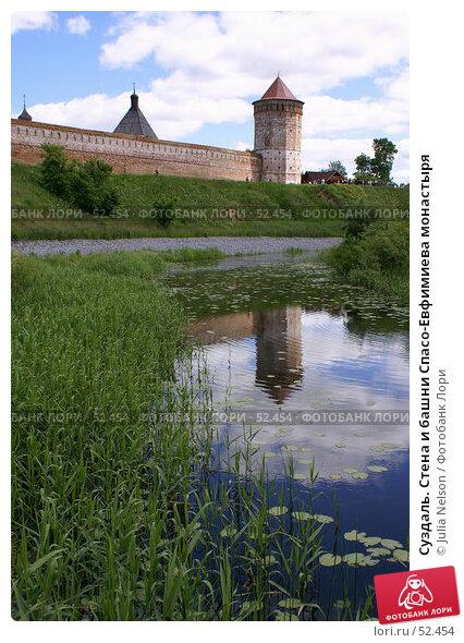 Суздаль. Стена и башни Спасо-Евфимиева монастыря, фото № 52454, снято 11 июня 2007 г. (c) Julia Nelson / Фотобанк Лори