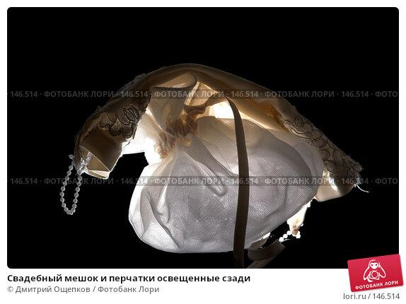 Свадебный мешок и перчатки освещенные сзади, фото № 146514, снято 22 ноября 2006 г. (c) Дмитрий Ощепков / Фотобанк Лори