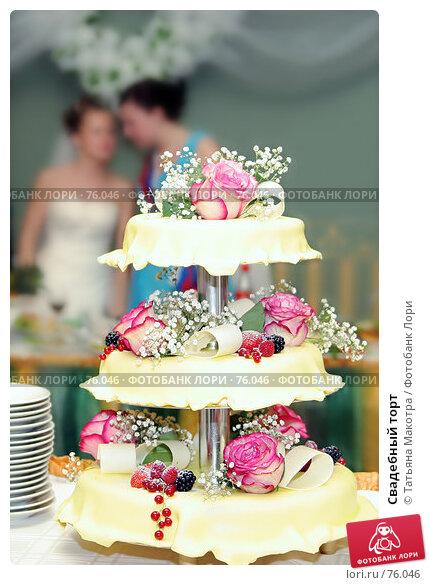 Свадебный торт, фото № 76046, снято 30 июня 2007 г. (c) Татьяна Макотра / Фотобанк Лори