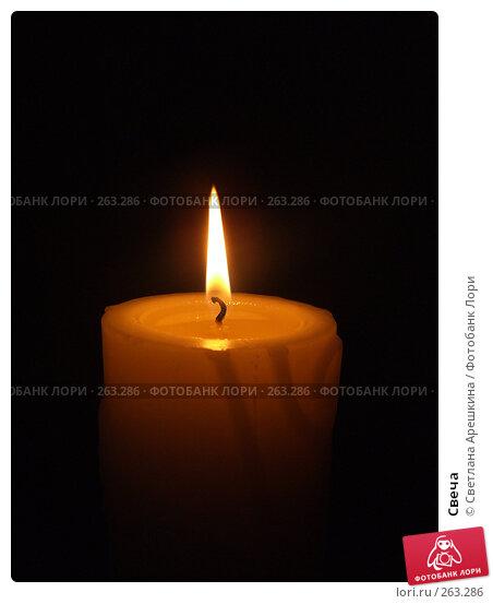 Свеча, фото № 263286, снято 7 января 2007 г. (c) Светлана Арешкина / Фотобанк Лори