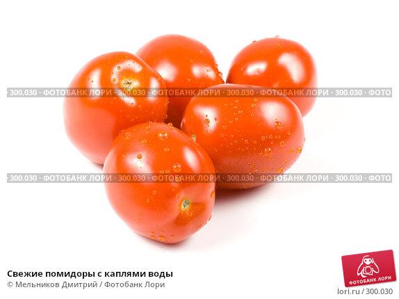 Свежие помидоры с каплями воды, фото № 300030, снято 7 мая 2008 г. (c) Мельников Дмитрий / Фотобанк Лори