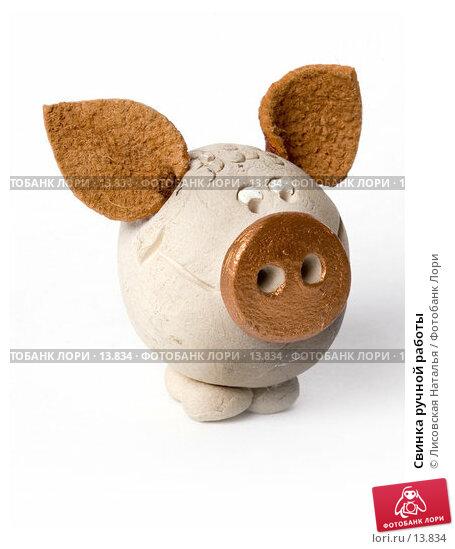 Свинка ручной работы, фото № 13834, снято 30 ноября 2006 г. (c) Лисовская Наталья / Фотобанк Лори