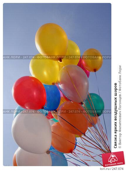 Связка ярких воздушных шаров, фото № 247074, снято 26 апреля 2007 г. (c) Виктор Филиппович Погонцев / Фотобанк Лори