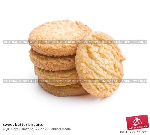 Купить «sweet butter biscuits», фото № 27790998, снято 21 февраля 2018 г. (c) PantherMedia / Фотобанк Лори