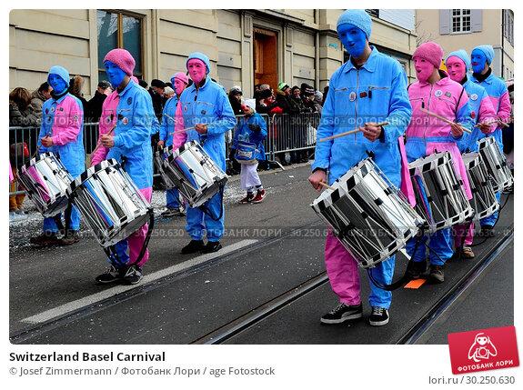 Купить «Switzerland Basel Carnival», фото № 30250630, снято 19 июля 2019 г. (c) age Fotostock / Фотобанк Лори