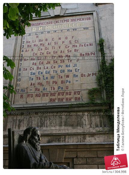 Купить «Таблица Менделеева», фото № 304998, снято 31 мая 2008 г. (c) Галина Беззубова / Фотобанк Лори