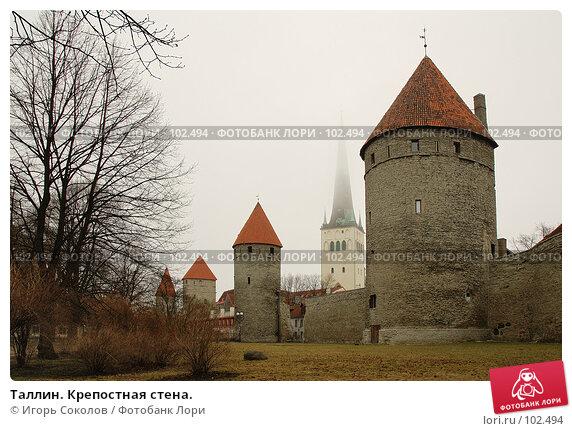 Купить «Таллин. Крепостная стена.», фото № 102494, снято 14 декабря 2017 г. (c) Игорь Соколов / Фотобанк Лори