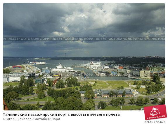 Таллинский пассажирский порт с высоты птичьего полета, фото № 86674, снято 26 сентября 2017 г. (c) Игорь Соколов / Фотобанк Лори
