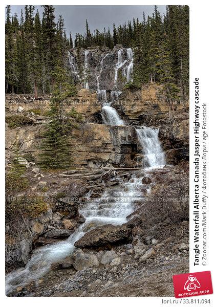 Купить «Tangle Waterfall Alberta Canada Jasper Highway cascade», фото № 33811094, снято 9 июля 2020 г. (c) age Fotostock / Фотобанк Лори