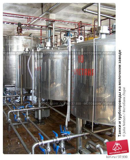 Купить «Танки и трубопроводы на молочном заводе», фото № 37930, снято 12 июня 2004 г. (c) Julia Nelson / Фотобанк Лори