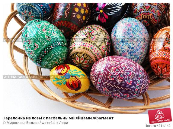 Тарелочка из лозы с пасхальными яйцами.Фрагмент, фото № 211142, снято 26 февраля 2008 г. (c) Мирослава Безман / Фотобанк Лори