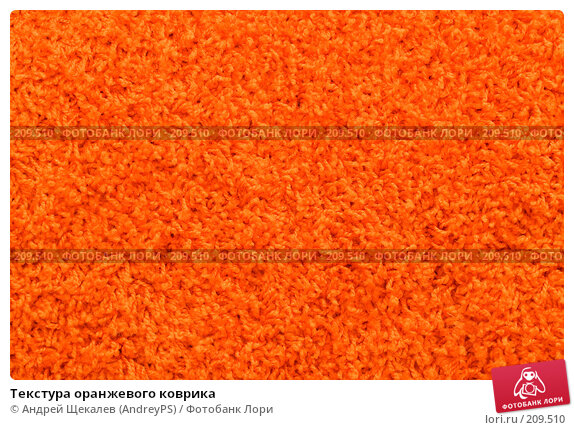 Купить «Текстура оранжевого коврика», фото № 209510, снято 25 февраля 2008 г. (c) Андрей Щекалев (AndreyPS) / Фотобанк Лори