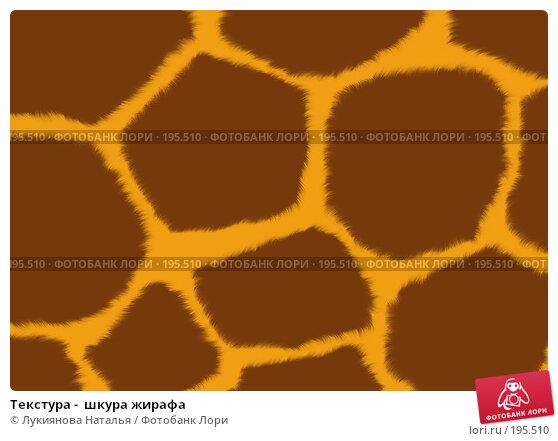 Купить «Текстура -  шкура жирафа», иллюстрация № 195510 (c) Лукиянова Наталья / Фотобанк Лори