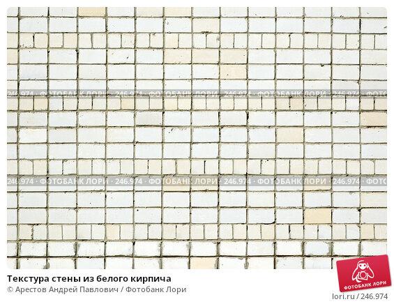 Текстура стены из белого кирпича, фото № 246974, снято 30 марта 2008 г. (c) Арестов Андрей Павлович / Фотобанк Лори