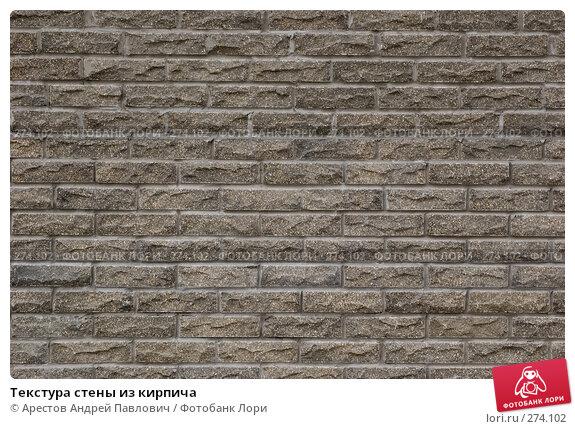 Купить «Текстура стены из кирпича», фото № 274102, снято 11 апреля 2008 г. (c) Арестов Андрей Павлович / Фотобанк Лори