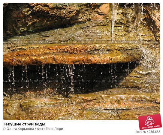 Текущие струи воды, фото № 236638, снято 19 августа 2007 г. (c) Ольга Хорькова / Фотобанк Лори