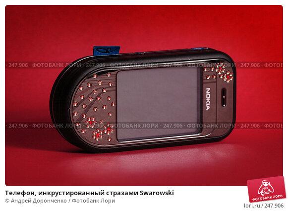 Телефон, инкрустированный стразами Swarowski, фото № 247906, снято 25 февраля 2017 г. (c) Андрей Доронченко / Фотобанк Лори