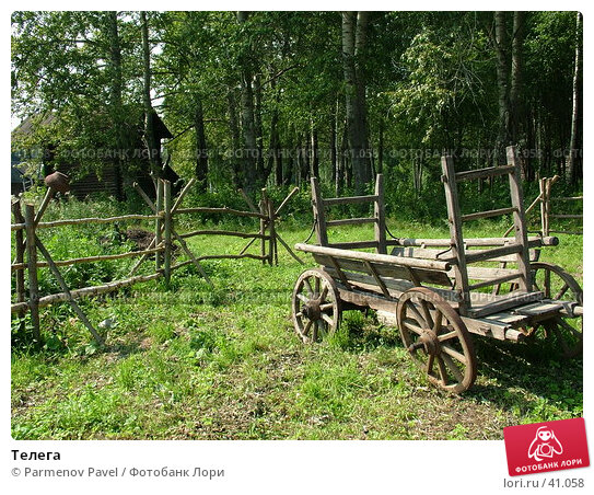 Телега, фото № 41058, снято 15 августа 2006 г. (c) Parmenov Pavel / Фотобанк Лори