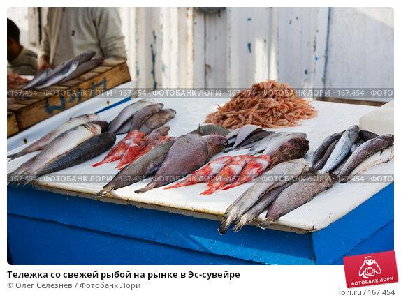 Купить «Тележка со свежей рыбой на рынке в Эс-сувейре», фото № 167454, снято 28 июля 2007 г. (c) Олег Селезнев / Фотобанк Лори
