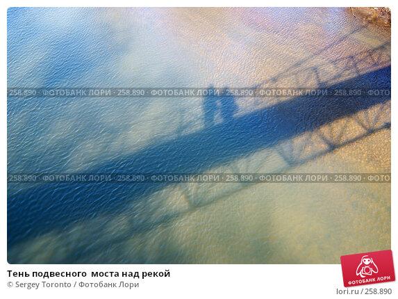 Купить «Тень подвесного  моста над рекой», фото № 258890, снято 30 марта 2008 г. (c) Sergey Toronto / Фотобанк Лори