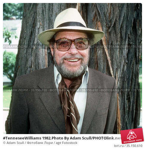 #TenneseeWilliams 1982.Photo By Adam Scull/PHOTOlink.net.. Редакционное фото, фотограф Adam Scull / age Fotostock / Фотобанк Лори