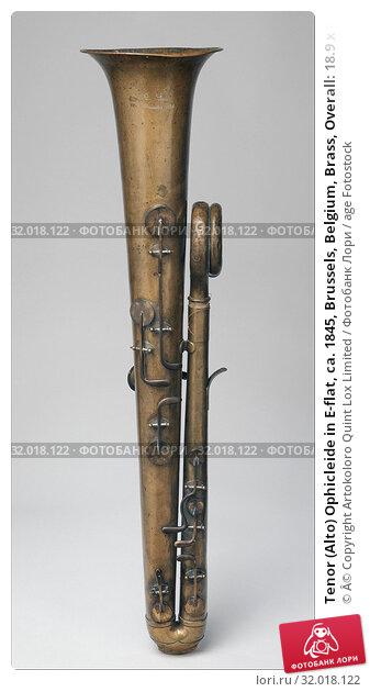 Купить «Tenor (Alto) Ophicleide in E-flat, ca. 1845, Brussels, Belgium, Brass, Overall: 18.9 x 89cm (7 7/16 x 35 1/16in.), Aerophone-Lip Vibrated-horn, Attributed...», фото № 32018122, снято 29 апреля 2017 г. (c) age Fotostock / Фотобанк Лори