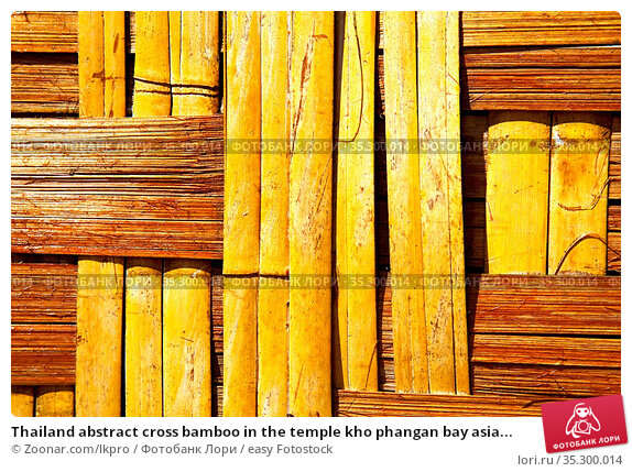 Thailand abstract cross bamboo in the temple kho phangan bay asia... Стоковое фото, фотограф Zoonar.com/lkpro / easy Fotostock / Фотобанк Лори