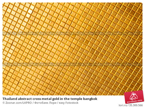 Thailand abstract cross metal gold in the temple bangkok. Стоковое фото, фотограф Zoonar.com/LKPRO / easy Fotostock / Фотобанк Лори