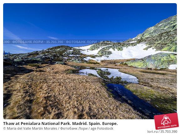 Thaw at Penialara National Park. Madrid. Spain. Europe. Стоковое фото, фотограф María del Valle Martín Morales / age Fotostock / Фотобанк Лори