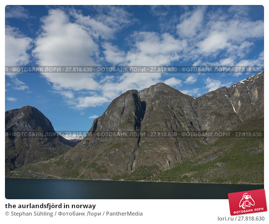 Купить «the aurlandsfjörd in norway», фото № 27818630, снято 18 февраля 2018 г. (c) PantherMedia / Фотобанк Лори