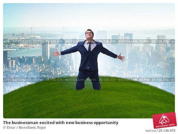 Купить «The businessman excited with new business opportunity», фото № 29138470, снято 16 октября 2018 г. (c) Elnur / Фотобанк Лори