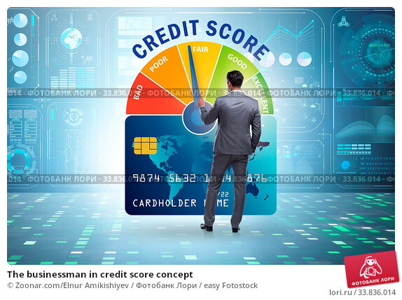 Купить «The businessman in credit score concept», фото № 33836014, снято 26 мая 2020 г. (c) easy Fotostock / Фотобанк Лори