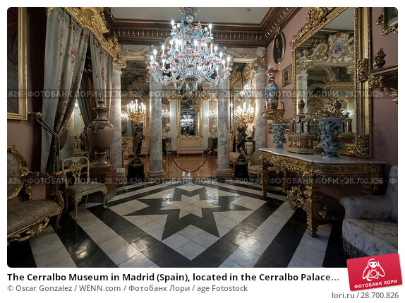 Купить «The Cerralbo Museum in Madrid (Spain), located in the Cerralbo Palace, houses an old private collection of works of art, archaeological objects and other...», фото № 28700826, снято 28 декабря 2016 г. (c) age Fotostock / Фотобанк Лори