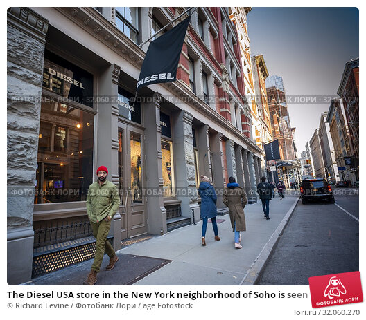 The Diesel USA store in the New York neighborhood of Soho is seen on Tuesday, March 5, 2019. The Diesel USA unit of the Italian fashion retailer has filed... Редакционное фото, фотограф Richard Levine / age Fotostock / Фотобанк Лори