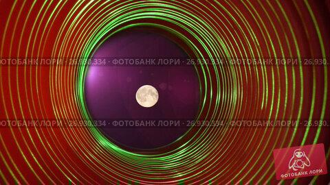 The full moon in space, Abstract conceptual background with futuristic high tech wormhole tunnel, видеоролик № 26930334, снято 14 июля 2009 г. (c) Куликов Константин / Фотобанк Лори