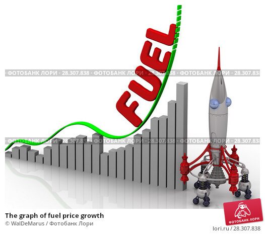 Купить «The graph of fuel price growth», иллюстрация № 28307838 (c) WalDeMarus / Фотобанк Лори