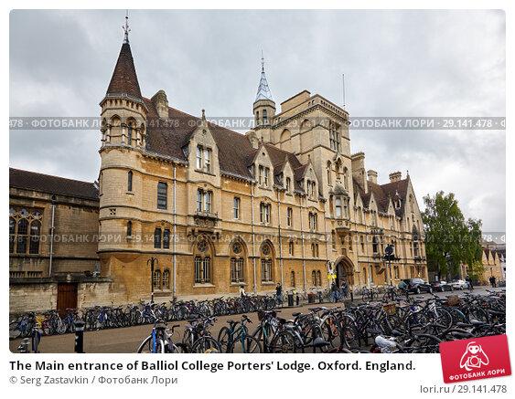 Купить «The Main entrance of Balliol College Porters' Lodge. Oxford. England.», фото № 29141478, снято 15 мая 2009 г. (c) Serg Zastavkin / Фотобанк Лори