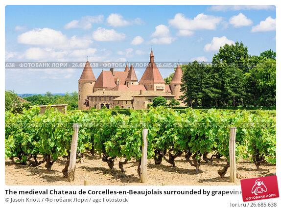 the medieval chateau de corcelles en beaujolais surrounded by grapevines corcelles en. Black Bedroom Furniture Sets. Home Design Ideas