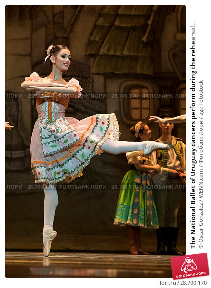 Купить «The National Ballet of Uruguay dancers perform during the rehearsal of 'Coppelia' at El Canal Theatre in Madrid Featuring: Atmosphere Where: Madrid, Spain...», фото № 28700170, снято 27 декабря 2016 г. (c) age Fotostock / Фотобанк Лори