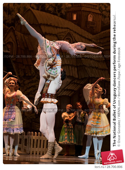 Купить «The National Ballet of Uruguay dancers perform during the rehearsal of 'Coppelia' at El Canal Theatre in Madrid Featuring: Atmosphere Where: Madrid, Spain...», фото № 28700806, снято 27 декабря 2016 г. (c) age Fotostock / Фотобанк Лори