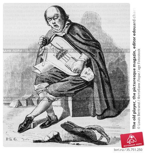 The old player, the picturesque magazin, editor edouard charton, 1860. (2009 год). Редакционное фото, фотограф Louis Bertrand / age Fotostock / Фотобанк Лори