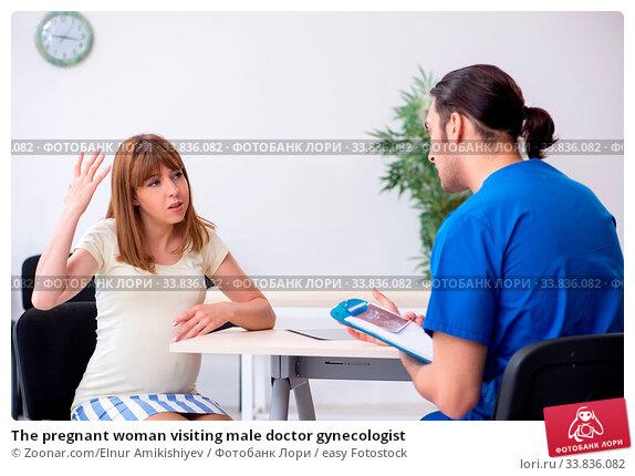 Купить «The pregnant woman visiting male doctor gynecologist», фото № 33836082, снято 30 мая 2020 г. (c) easy Fotostock / Фотобанк Лори