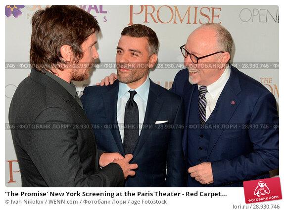 Купить «'The Promise' New York Screening at the Paris Theater - Red Carpet Arrivals Featuring: Christan Bale, Oscar Isaac Where: New York, New York, United States...», фото № 28930746, снято 18 апреля 2017 г. (c) age Fotostock / Фотобанк Лори