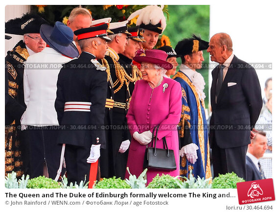 The Queen and The Duke of Edinburgh formally welcome The King and... (2017 год). Редакционное фото, фотограф John Rainford / WENN.com / age Fotostock / Фотобанк Лори